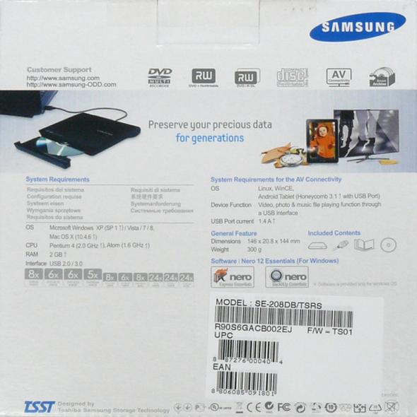 Samsung SE-208DB Verpackung 3