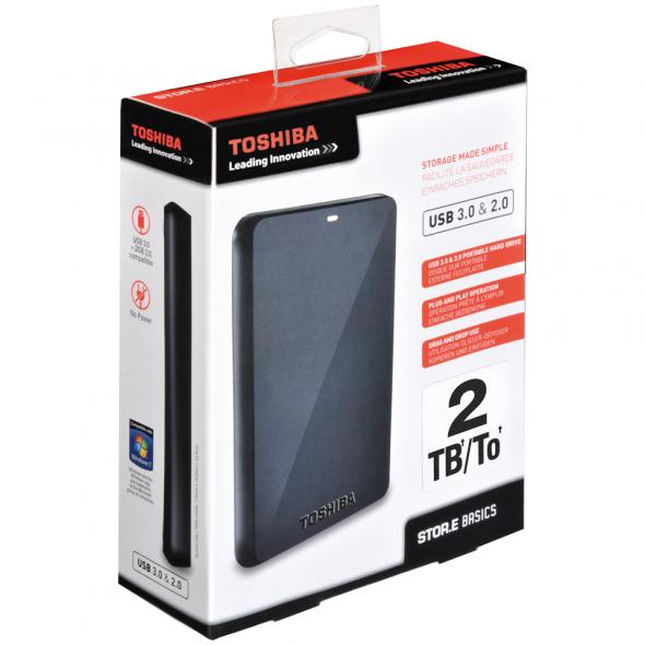 Toshiba STOR.E Basics 2TB - verpackung