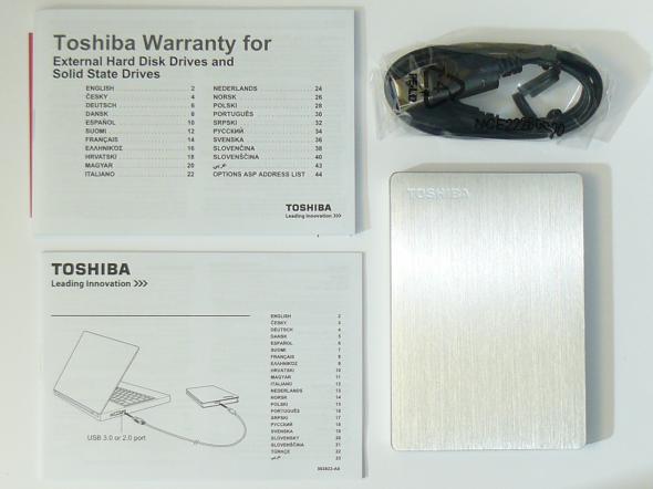 Toshiba STOR.E Slim 500GB - Lieferumfang