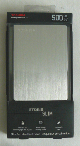Toshiba STOR.E Slim 500GB - Verpackung 1