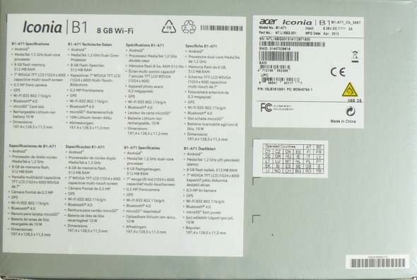 Acer Iconia Tab B1-A71 - Verpackung 2