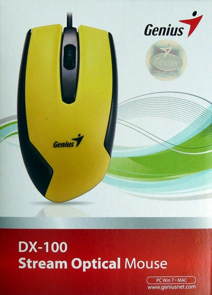 genius dx-100 stream optical mouse - verpackung front