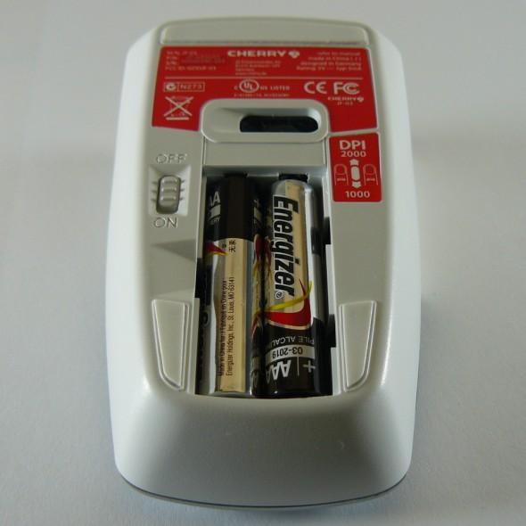 Cherry DW 8000 Desktop Set - Batteriefach