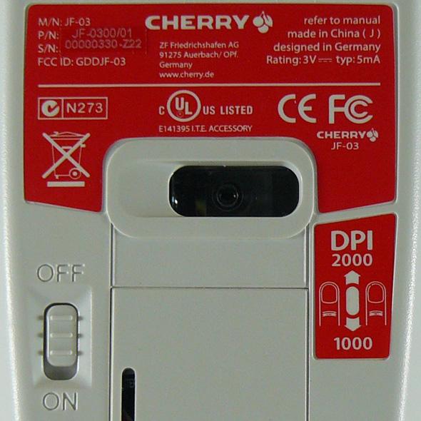 Cherry DW 8000 Desktop Set - Maus Rueckseite