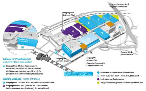 Gamescom 2013 - Hallenplan