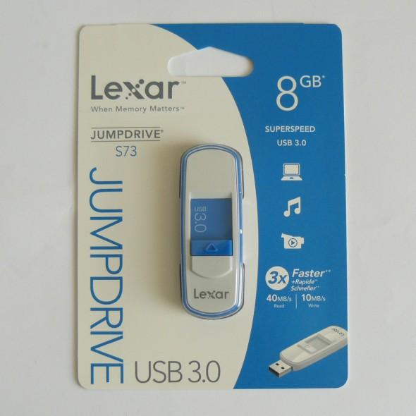 Lexar Jumpdrive S73 8GB - Verpackung Vorderseite