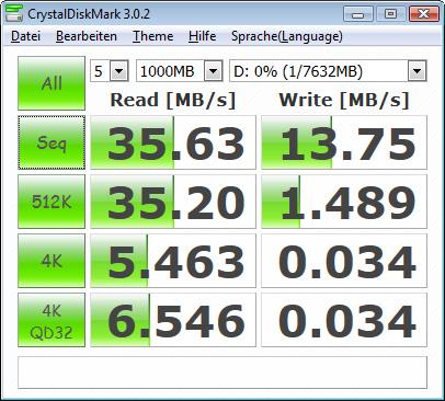 Lexar Jumpdrive S73 - CrystalDiskMark3 - USB2.0