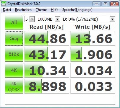 Lexar Jumpdrive S73 - CrystalDiskMark3 - USB3.0