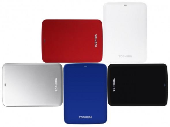 Toshiba STOR.E Canvio 1TByte USB3.0 - Farben weiß schwarz silber blau rot 2