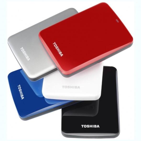 Toshiba STOR.E Canvio 1TByte USB3.0 - Farben weiß schwarz silber blau rot