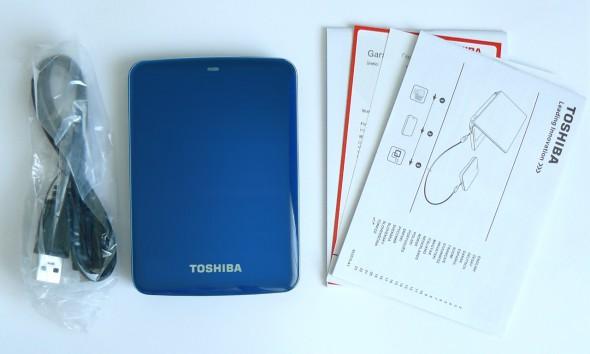 Toshiba STOR.E Canvio 1TByte USB3.0 - Lieferumfang