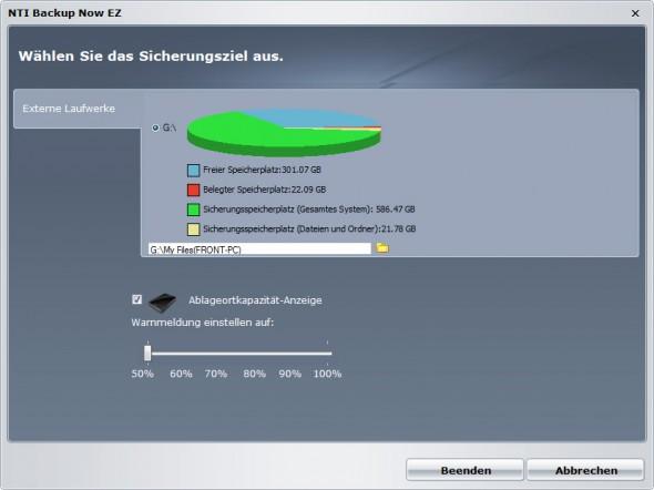 Toshiba STOR.E Canvio 1TByte USB3.0 - NTI Backup Now EZ 4