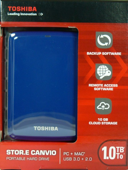Toshiba STOR.E Canvio 1TByte USB3.0 - Verpackung Vorderseite
