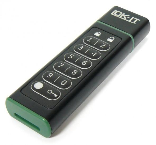 LOK-IT Secure Flash Drive - geschlossen quer