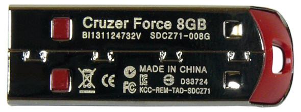 SanDisk Cruzer Force USB Flash Drive - Stick unten
