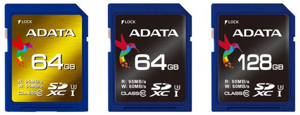 ADATA SDXC UHS-I U3 XPG und Premier Pro 64GB 128GB