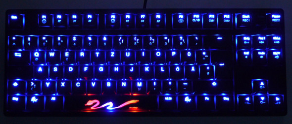 Ducky DK9008 Shine 3 Slim Gaming Keyboard - MX-Brown - Blue-LED - Beleuchtung