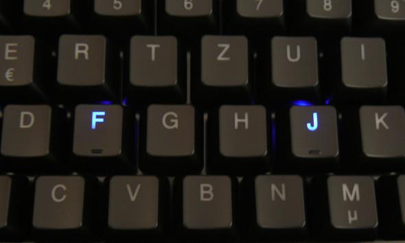 Ducky DK9008 Shine 3 Slim Gaming Keyboard - MX-Brown - Blue-LED - Bild 07