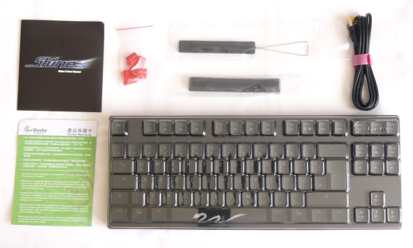 Ducky DK9008 Shine 3 Slim Gaming Keyboard - MX-Brown - Blue-LED - Lieferumfang