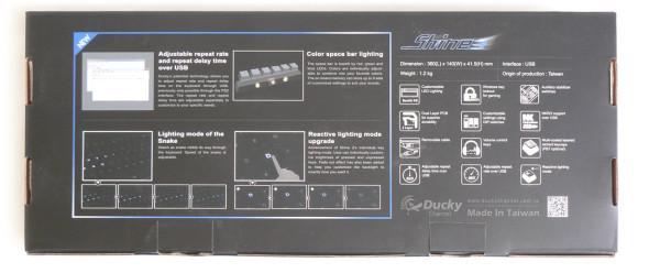 Ducky DK9008 Shine 3 Slim Gaming Keyboard - MX-Brown - Blue-LED - Verpackung2