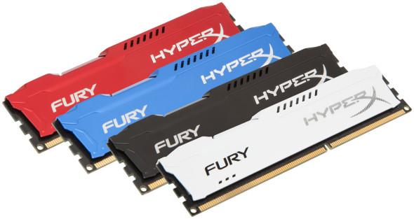 Kingston HyperX Fury DIMM DDR3 1333 1600 1866 rot blau schwarz weiß red blue black white