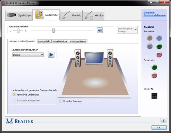 Realtek Control Panel