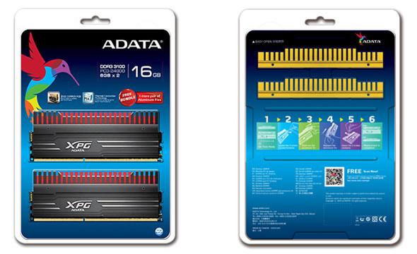 3DTester.de - ADATA XPG V3 - 8GByte Modul - 16GByte Kit