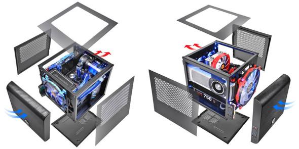 3DTester.de - Thermaltake Core V1 Mini - WaKü - Lüfter
