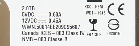 Western Digital AV-GP 2 TByte - WD20EURX - Spannung