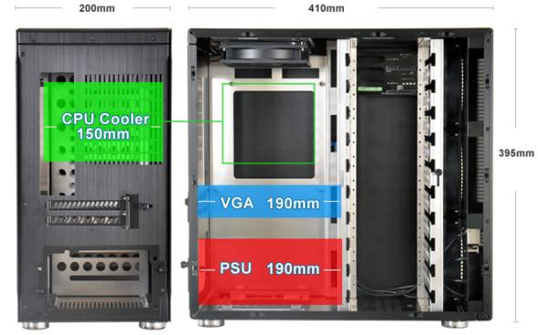 3DTester.de - Lian Li PC-Q26 schwarz silber Mini-ITX - Bild 02