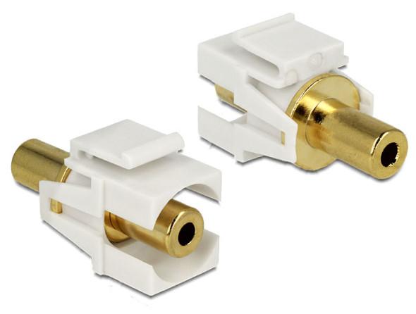 3DTester.de - DeLock Keystone Modul 3,5mm Klinke vergoldet
