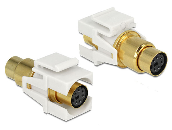 3DTester.de - DeLock Keystone Modul Mini-DIN vergoldet