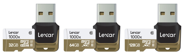 3DTester.de - Lexar Professional microSD-Card 32 64 128 GByte mit UHS-II Card-Reader