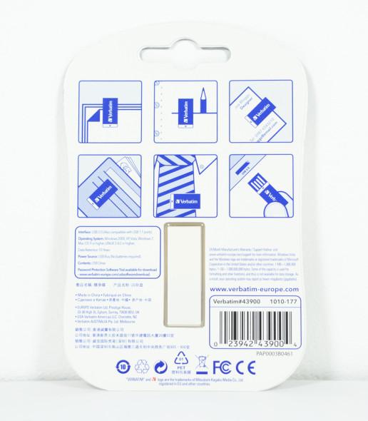 3DTester.de - Büro-USB-Sticks - Verbatim Clip-it - back