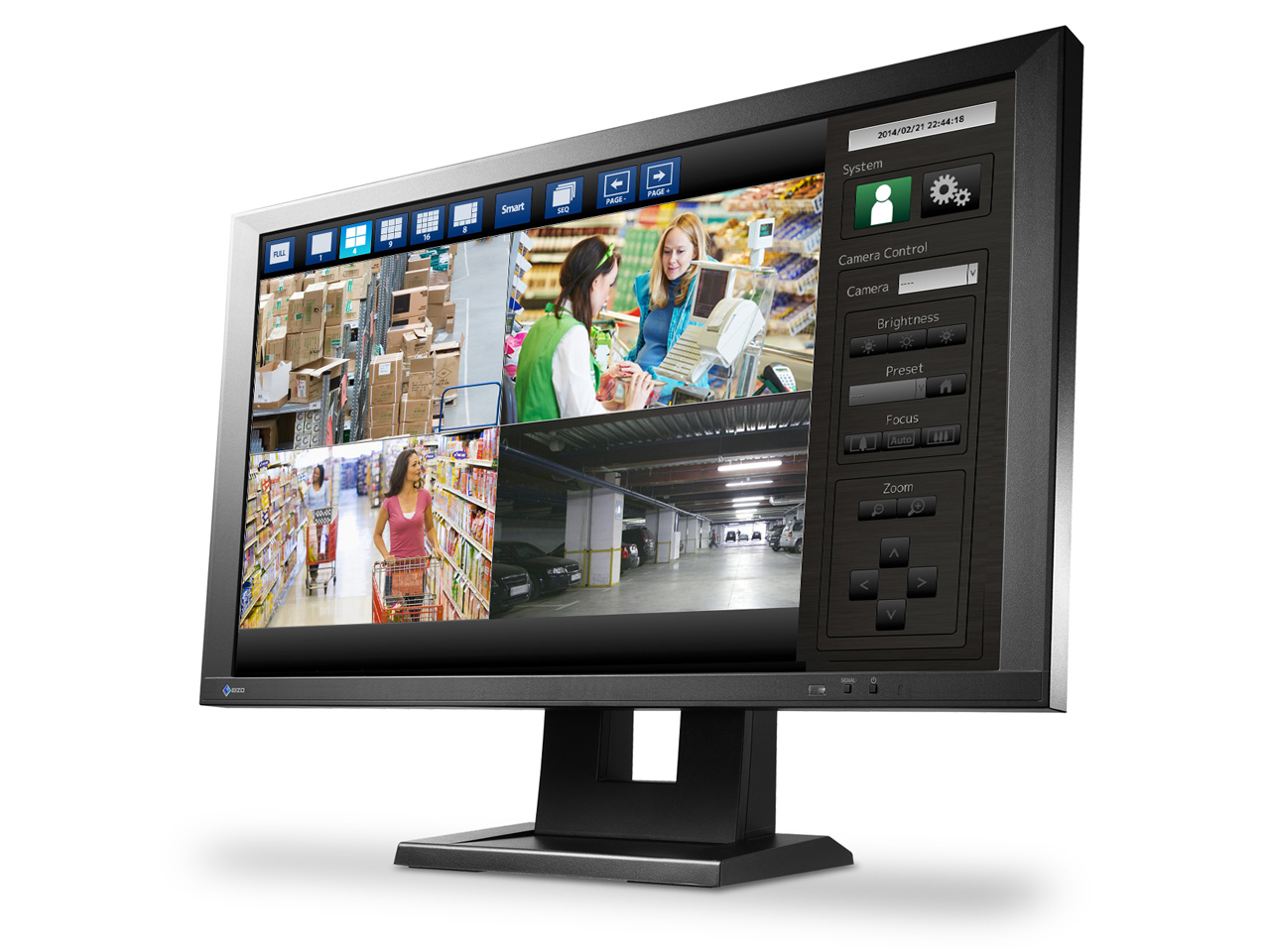 eizo ip monitor f r ip cams. Black Bedroom Furniture Sets. Home Design Ideas