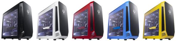 3DTester.de - BitFenix Aegis - black white red blue yellow case - schwarz weiß rot blau gelb PC-Gehäuse Midi-ATX