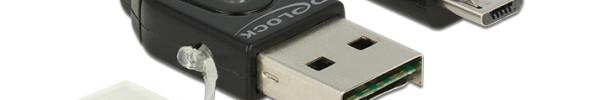 DeLock präsentiert das USB-Stick-Card-Reader-Datenkabel