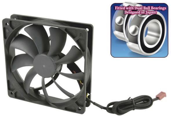 3DTester.de - Scythe Slip Stream 120 DB Dual Ball Bearing - Lüfter