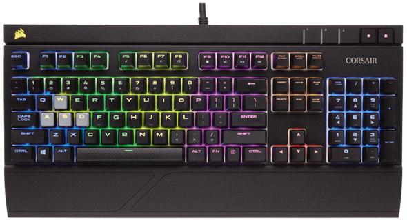 3DTester.de - Corsair Strafe RGB Silent - Gaming Keyboard - Cherry MX Blue Silent Switche - 1