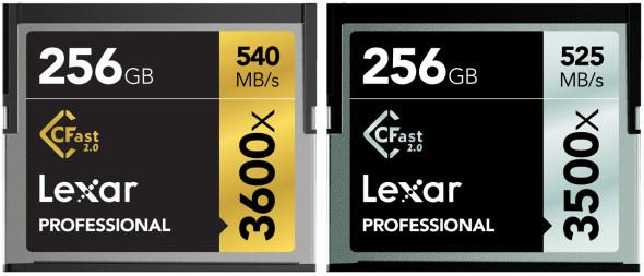 3DTester.de - Lexar Professional 3500X CFast 256GB - Lexar Professional 3600x CFast 256GB
